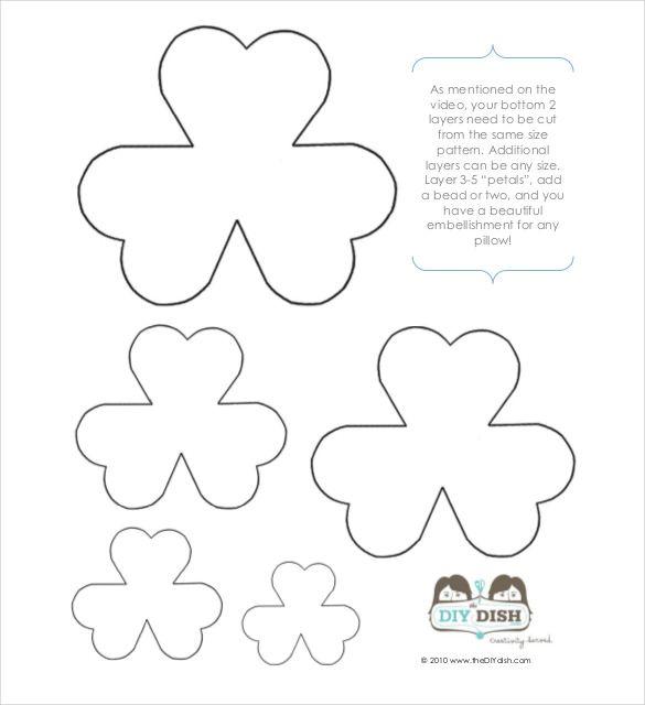 20 Flower Petal Templates Pdf Vector Eps Free Paper Flower