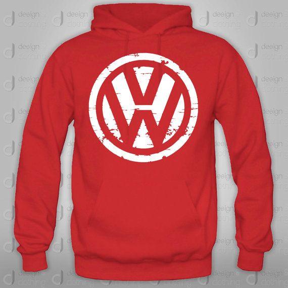 vw volkswagen hoodie crewneck sweatshirt  designandclothing  volkswagons galore