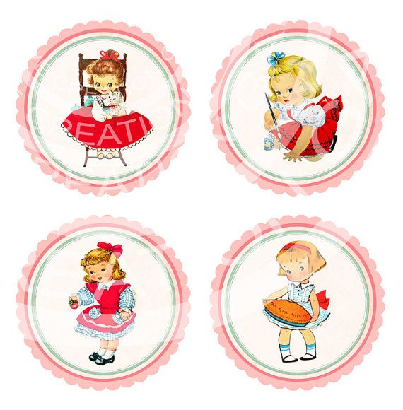 Vintage Girl Birthday Tea Party Celebrate nursery rhyme party for