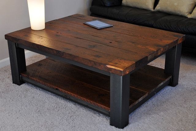 Square Coffee Table Metal And Wood Google Search Rustikale Couchtische Couchtisch Diy Couchtisch