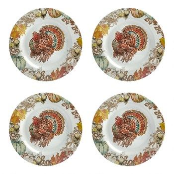 Set the table for a gobbling good meal with our turkey dinner plates