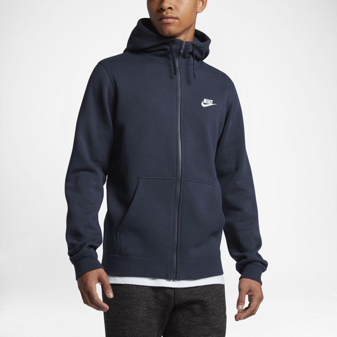Nike Sportswear Full Zip Men's Hoodie Size XL Tall (Obsidian