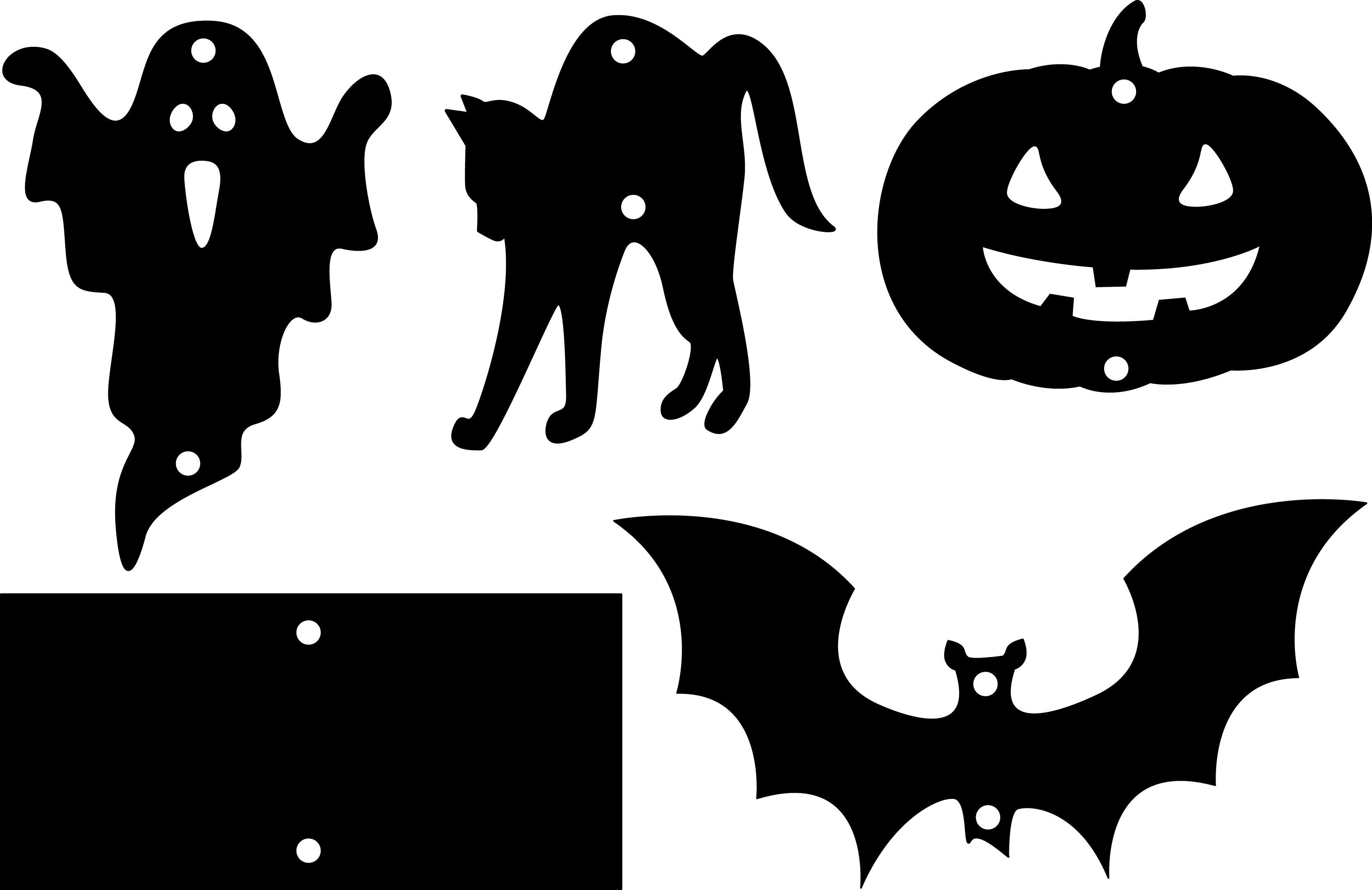 Halloween-Mobile-Bastelvorlagen