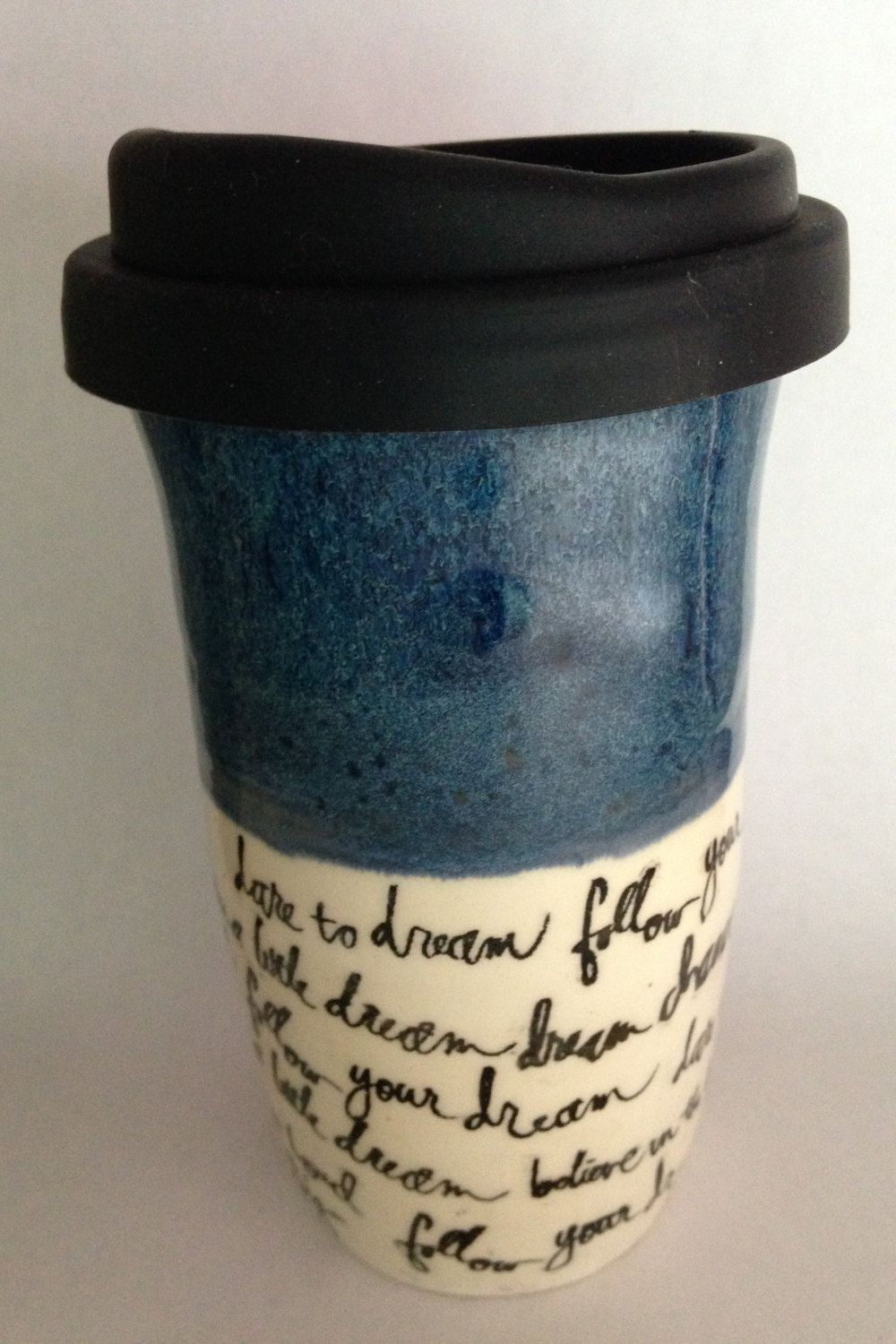Travel Mug, Ceramic Travel Mug, Coffee Travel Mug, Coffee Mug, Mug, Handmade by RuthiesPottery by RuthiesPottery on Etsy