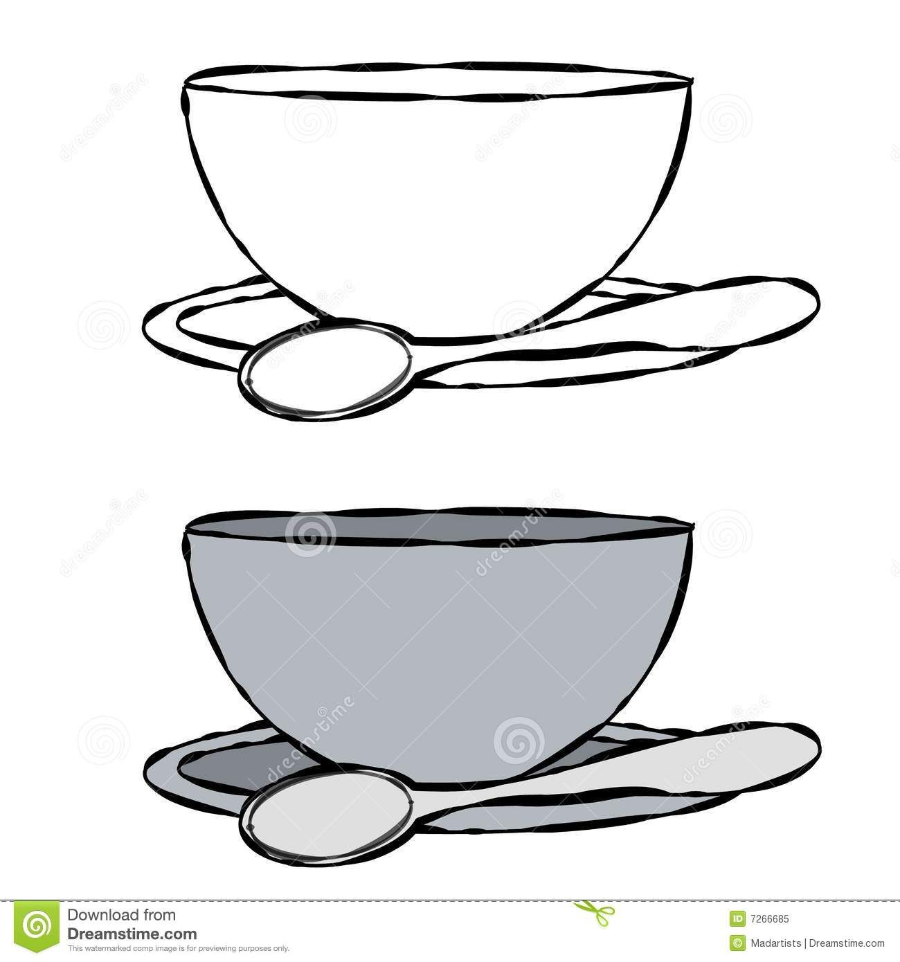 Spoon clipart black and white ...