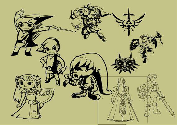 Zelda Link And Princess Pack Svg File Svg Svg File Cricut Svg