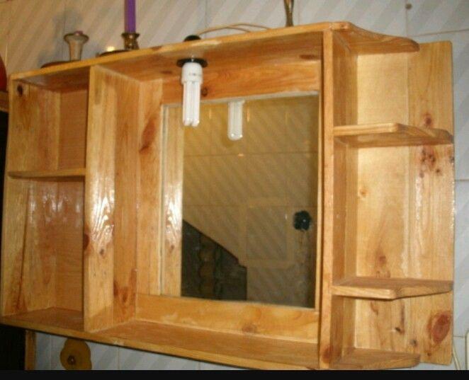 Botiquin Madera Con Espejo Muebles De Bano Armarios De Bano Palets