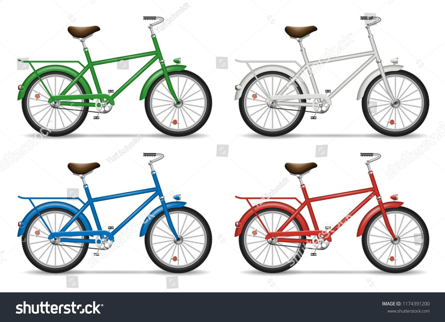Download Realistic Bicycle Side View Vector Illustration Isolated Multicolored Bikes On White Background Ad Sponsored View Vecto Mockup Psd Bicycle Psd Templates