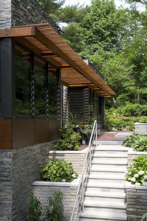 Sustainable Long Island Residence Outdoor Pergola Modern Exterior Pergola