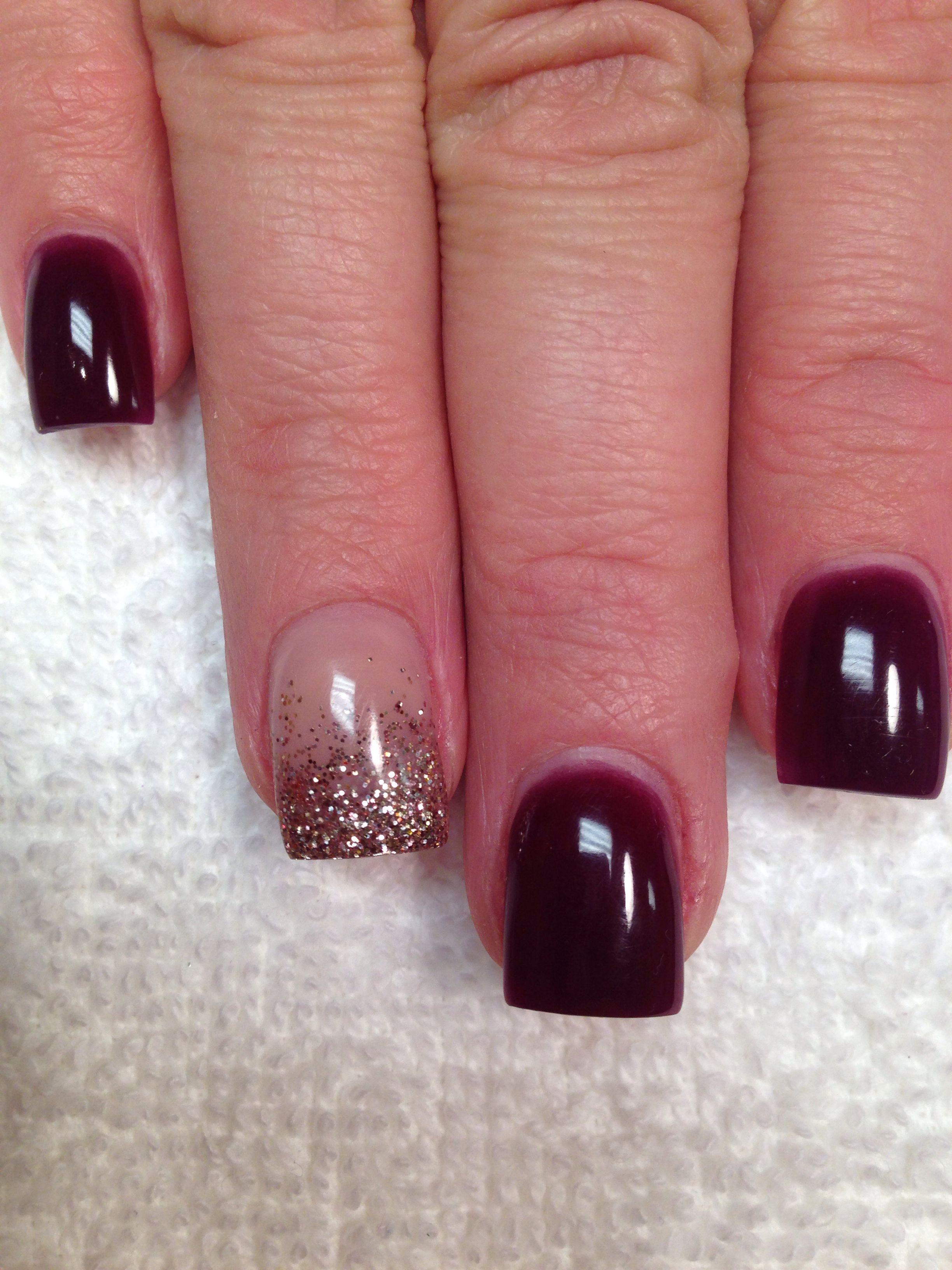 bronze fade acrylic nails