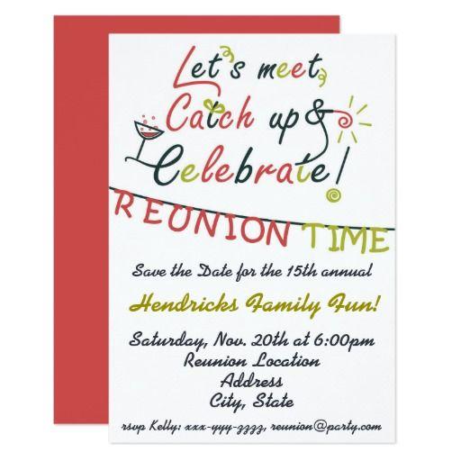 Family Reunion Design Card Family Reunion Invitations
