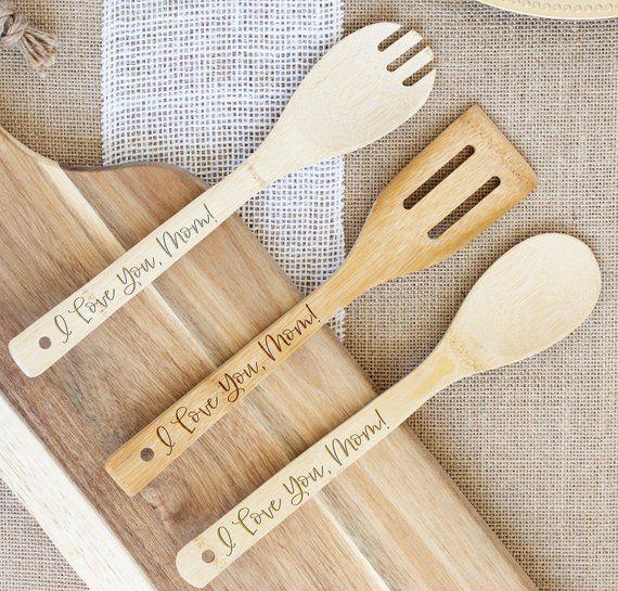 Set Of 3 Personalized Kitchen Utensils