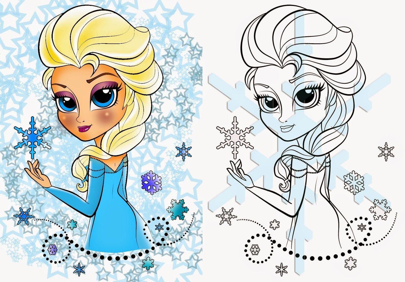 Princess Elsa Coloring Filminspector Com Boyama