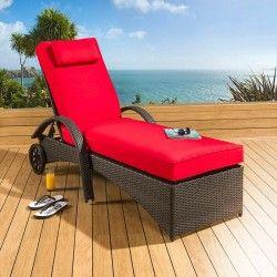 Best Large Luxury Garden Rattan Sun Lounger Sunbed Day Bed 400 x 300