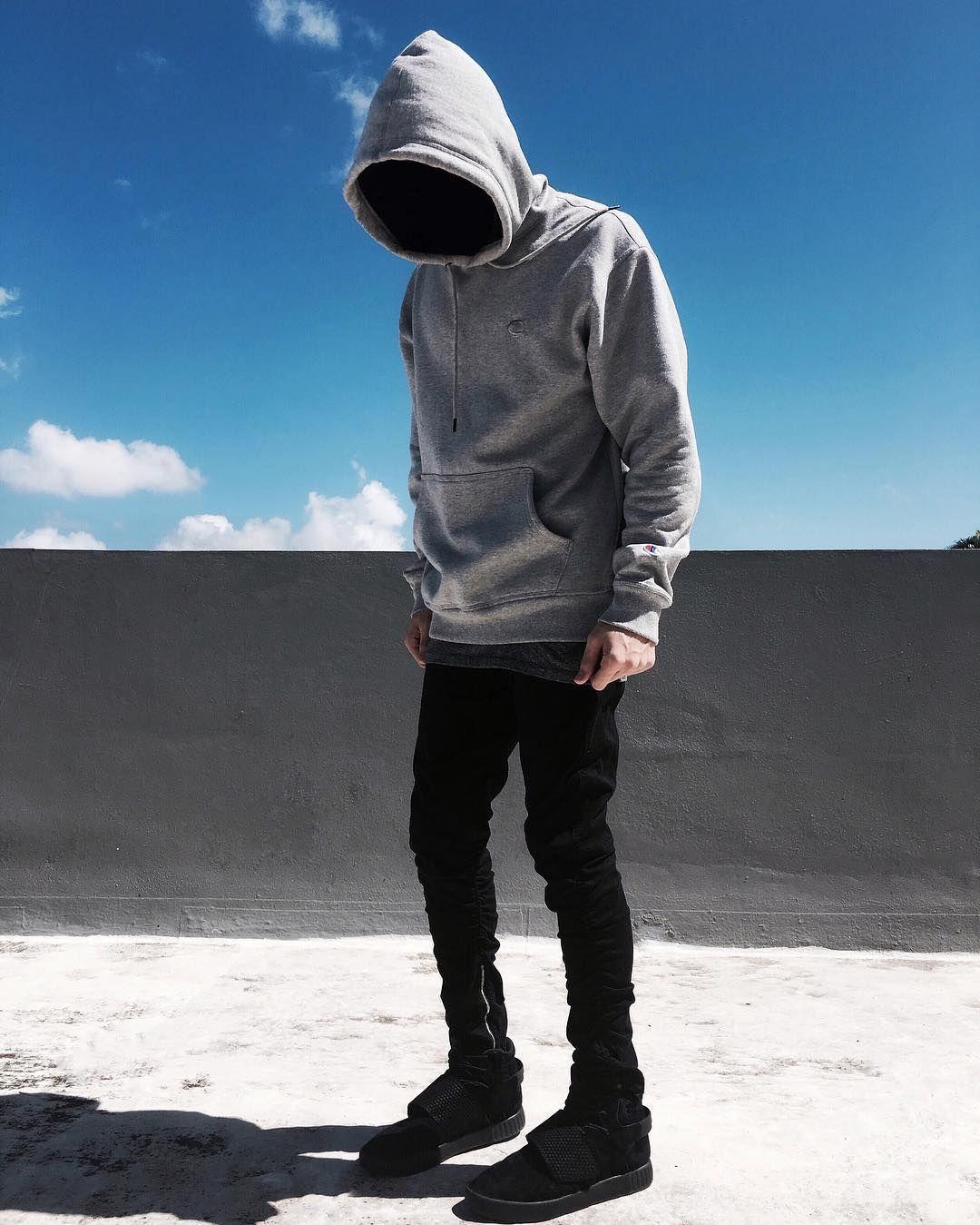 3ac30d5b3194 Wavy Fit • Instagram   edriancortes - -  streetwear  streetstyle  champion   hoodie  gray  blvck  zara  jeans  men  style  ootd  wiwt