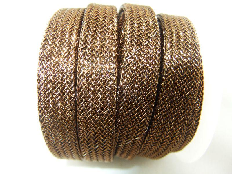Cordón metalico de 10mm, color cobre brillo