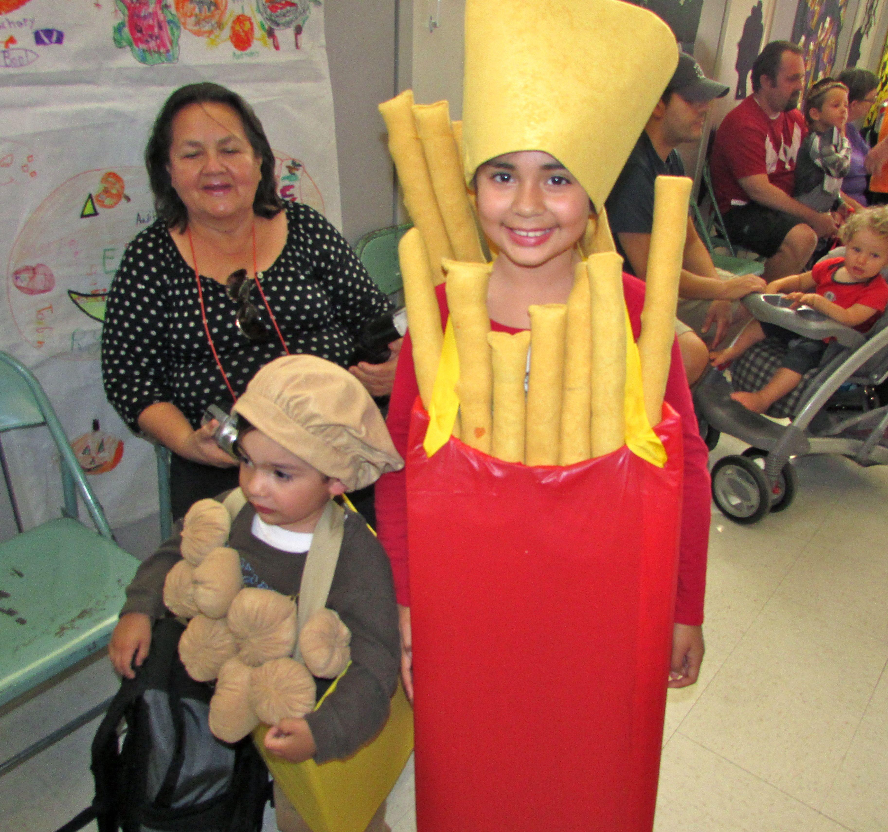 Chicken nuggets & Fries   Halloween Costume Ideas   Pinterest ...