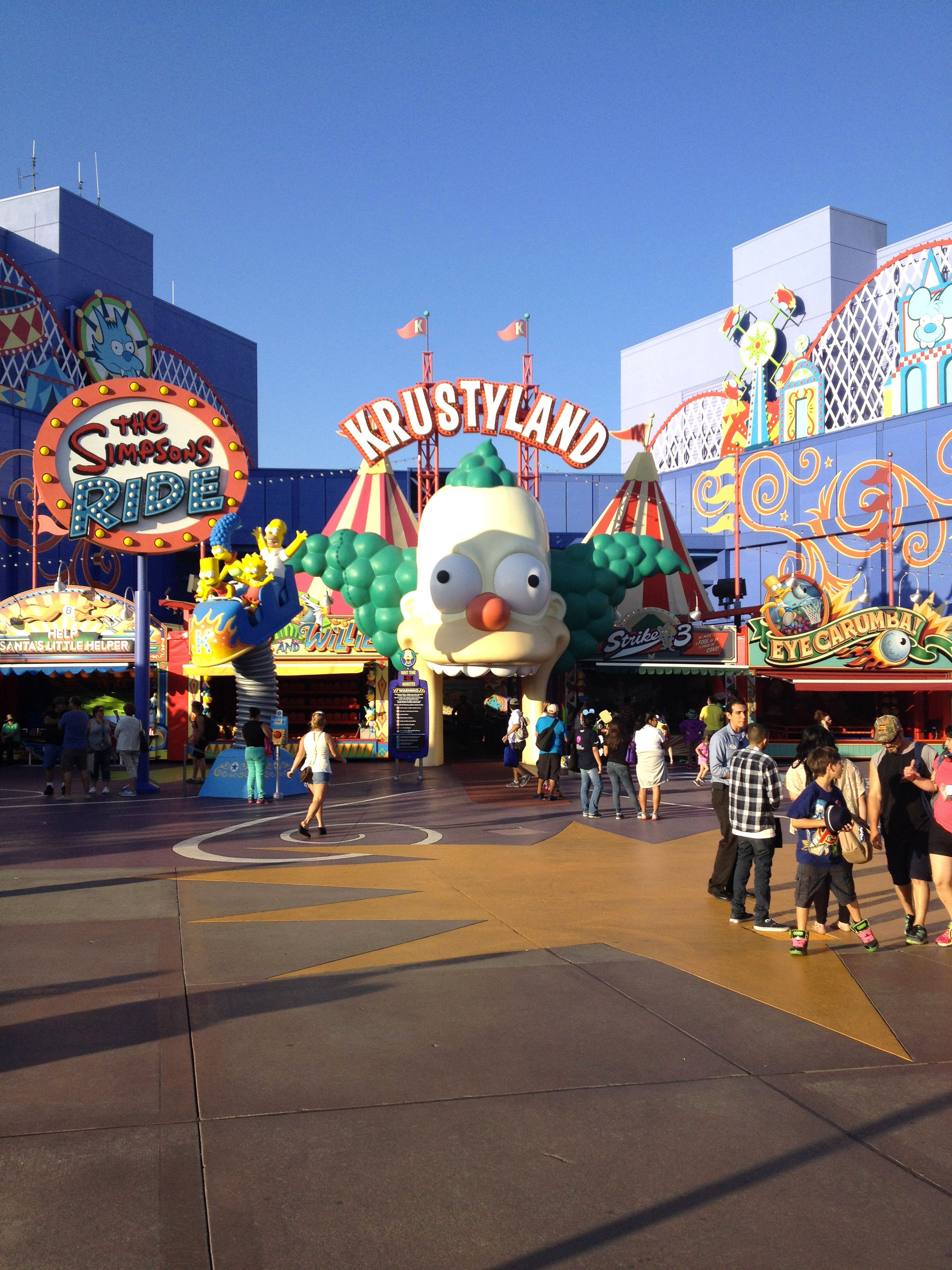 Krusty Land Universal Studio Los Angeles Universal Studios Studios Los Angeles Orlando Florida