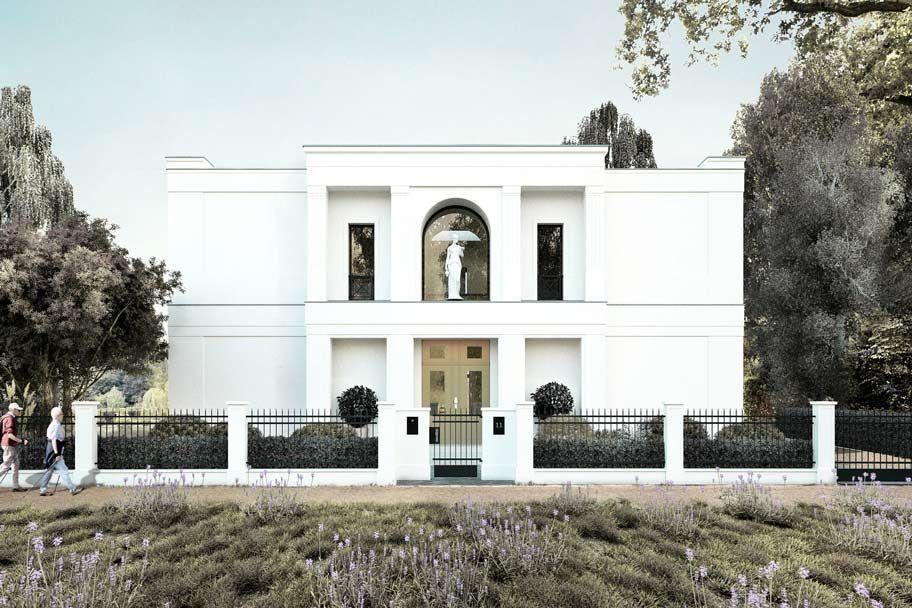 Neubau einer klassischen Villa mit Mittelrisaltit | House facade ...