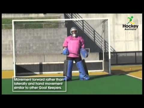 Technical Development For Field Hockey Goalkeepers Video Tips And Drills From Australia Field Hockey Field Hockey Goalie Goalkeeper Field Hockey