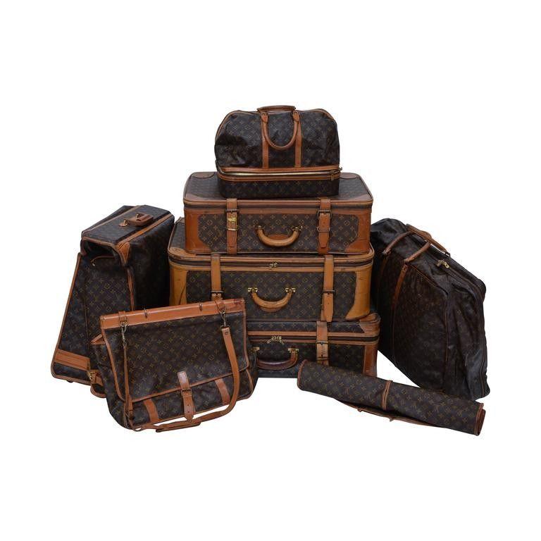 louis vuitton 1970 s bags. louis vuitton 8 piece traveling luggage 1970\u0027s - 1990\u0027s 1970 s bags e