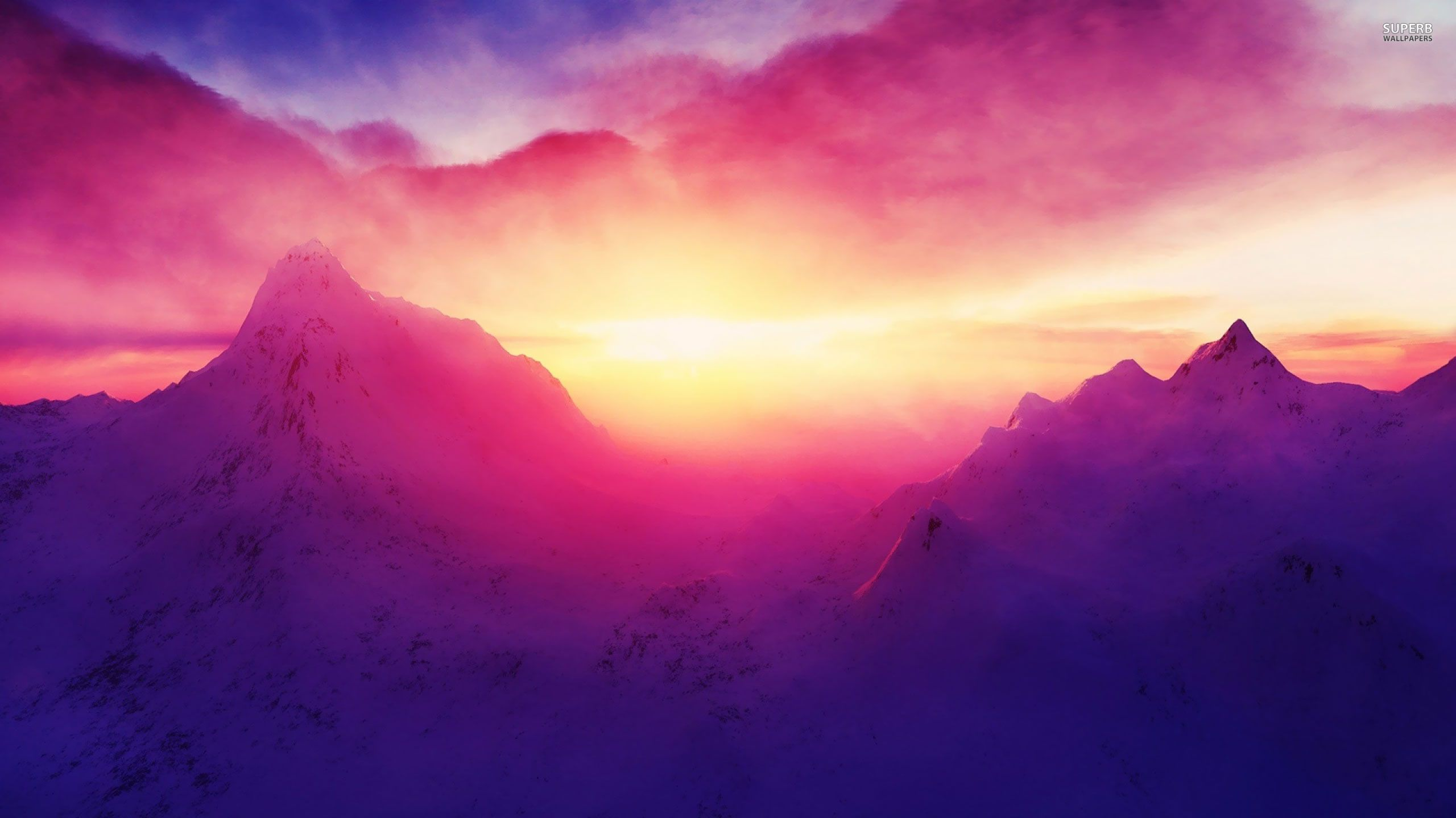pink snow mountain wallpaper - photo #44