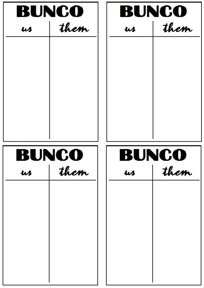 photograph regarding Bunco Tally Sheets Printable called Bunco Printables Bunco Evening! Halloween bunco, Bunco