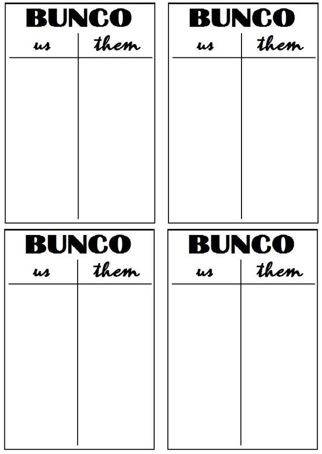 photograph relating to Free Printable Bunco Table Tally Sheets called Bunco Printables Bunco Evening! Halloween bunco, Bunco