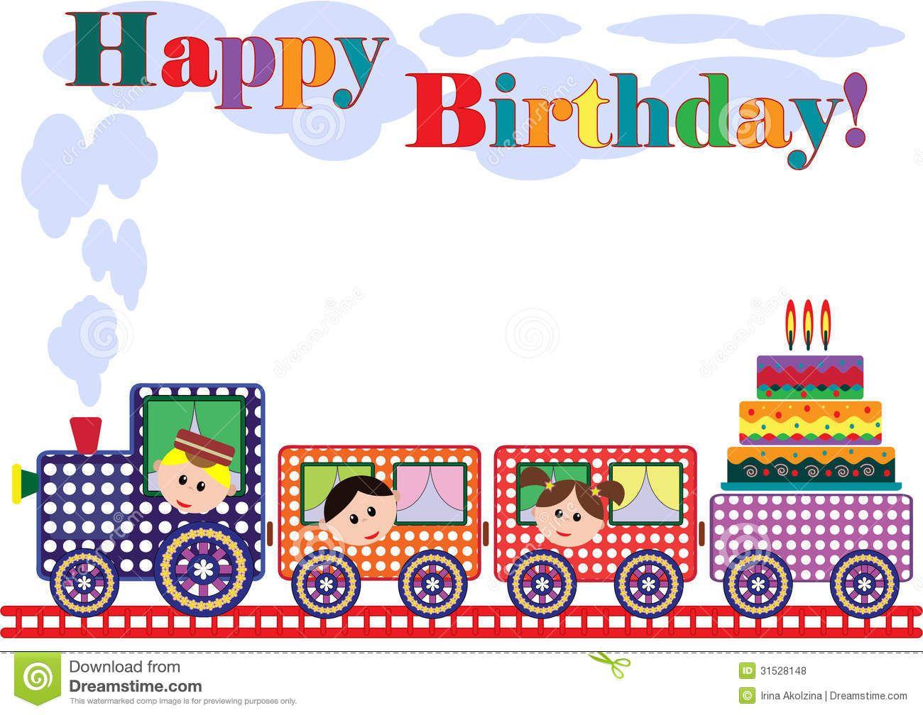 Birthday card train All Aboard TRAIN – Train Birthday Cards
