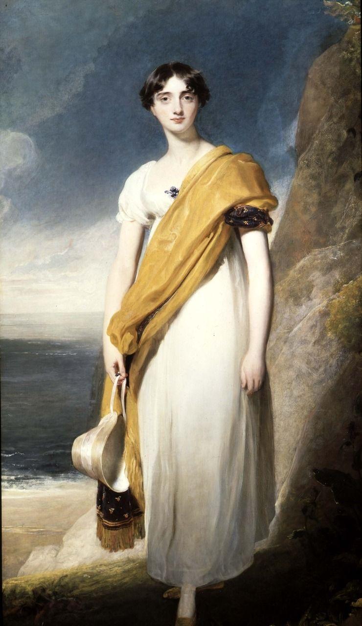academic romantic ᘛ Portrait of Lady Maria Anne Oglander (1785 - 1855) by Sir Thomas Lawrence PRA, 1820s art painting