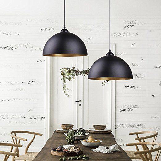BAYTTER® Design 2x Industrielle Vintage LED Pendelleuchte - pendelleuchten f r wohnzimmer