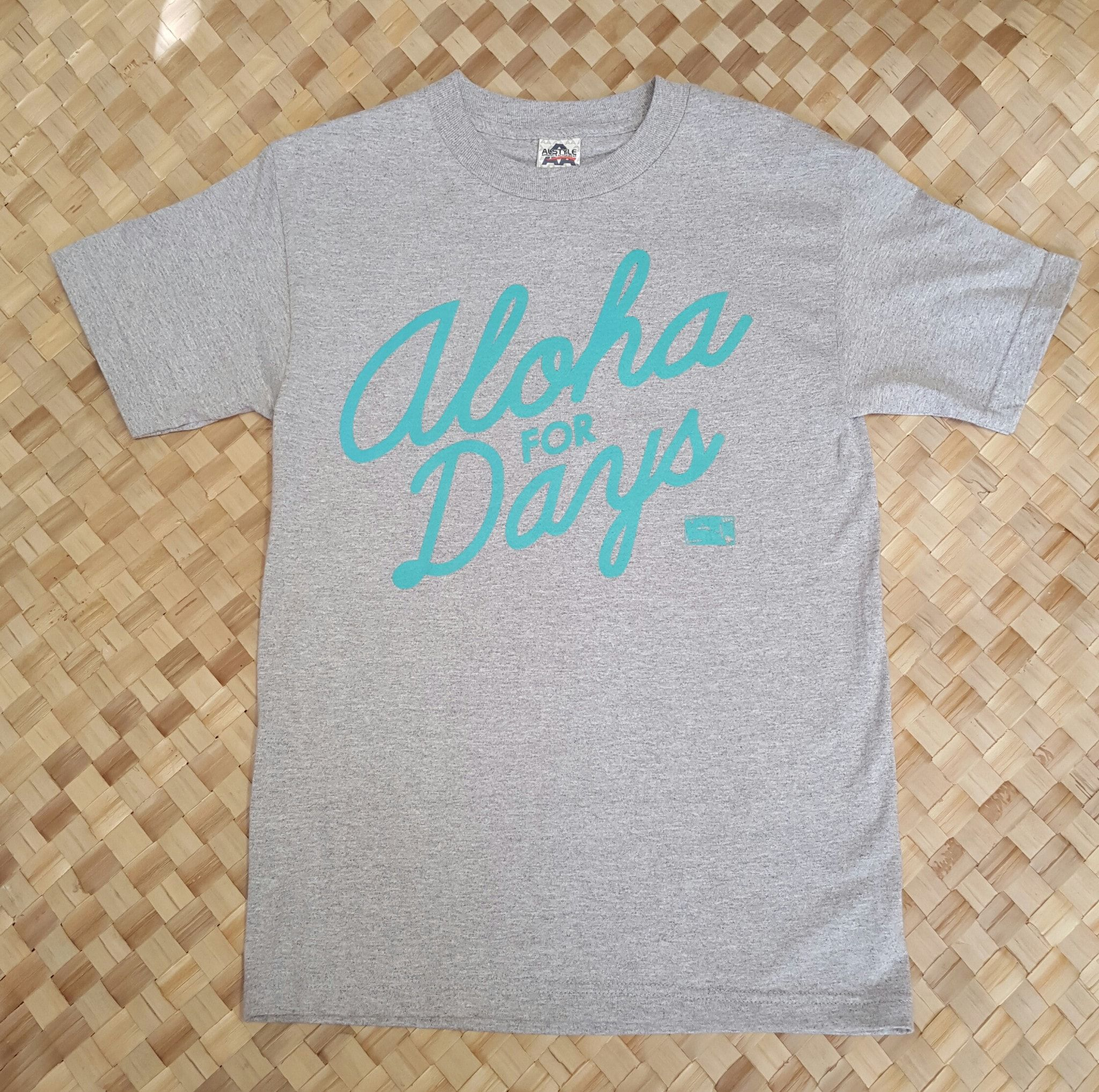 4a391ef43c 50th State of Mind Aloha for Days Mens T-Shirt, Heather Gray ...