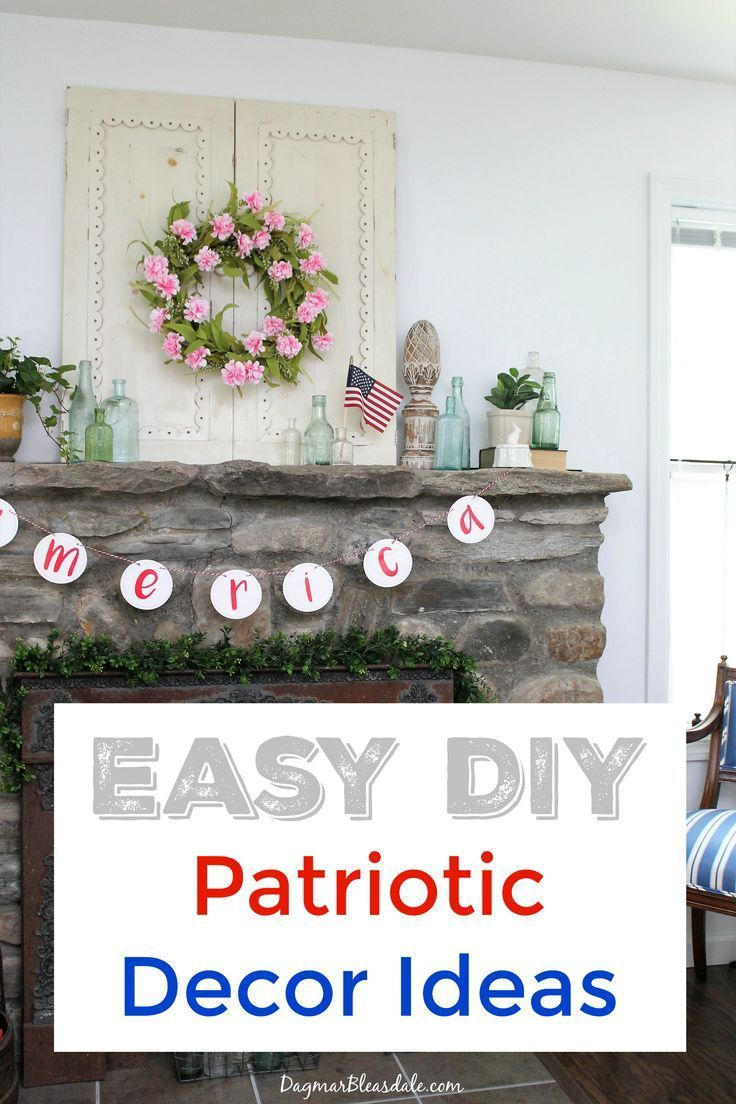 4th of July Decorations - Banners, Flags, and DIY Ideas   Diy ...