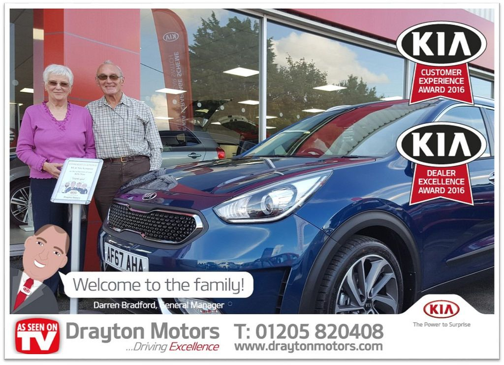 Pictured Are Mr And Mrs Kempster Collecting Their Brand New Niro From Martin Mr And Mrs Kempster Are Returning Customers So We Would Like To Say A Massive Than Drayton Welcome