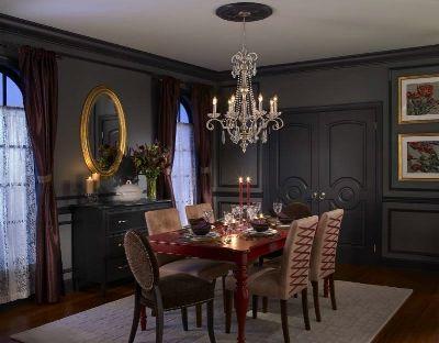 Black Dining Room Decor Inspirations Paint Sheen