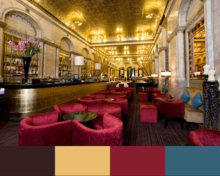 30 restaurant interior design color schemes design build ideasother more subtle colors like pastels - Blue Restaurant Ideas