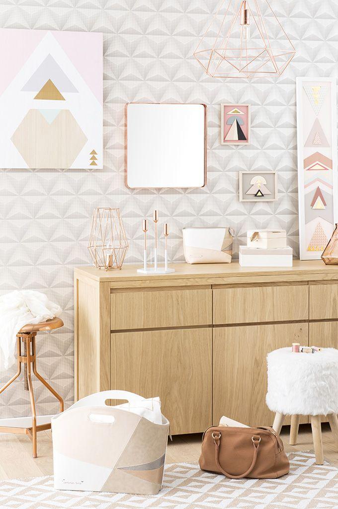 Tendencia graphik pastel esp ritu alta costura maisons du monde inspira hogar nel 2019 - Maison du monde camere da letto ...