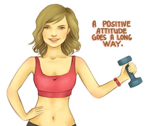 A positive attitude goes a long way