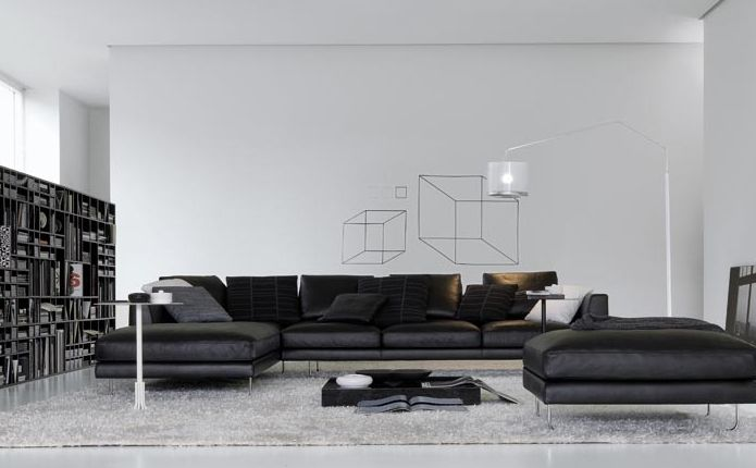 Seeking Real Comfort On Modern Luxury Sofa Fabric Sofa Design Sofa Design Black Living Room
