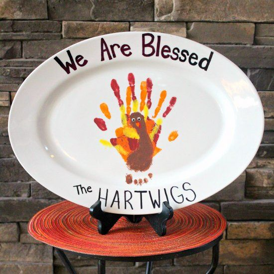 This Handprint Turkey Plate not only has a piece of each ...
