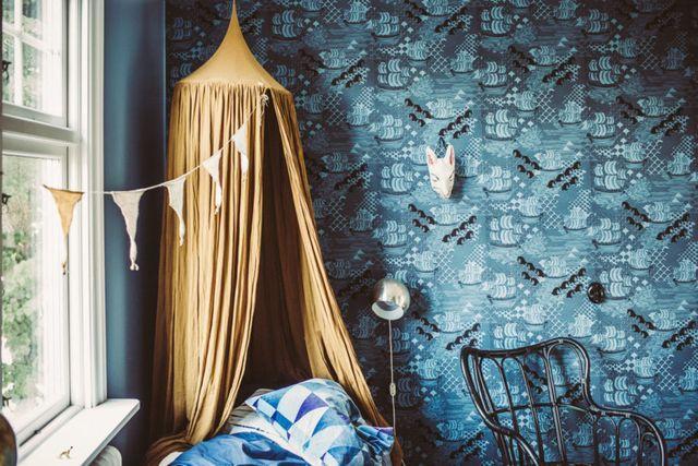 8x Minimalistische Kinderkamers : Igors rum u2013 blått och senap krickelin pinterest planten