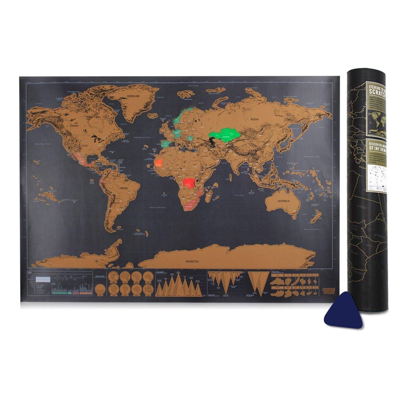 Cartina Mondo Che Si Gratta.Cartina Grattabile Gratta I Paesi Che Hai Visitato E Sfida Te Stesso A Viaggiare Di Piu Ottima Idea Regalo Per Chi Ama Viaggiare Ma Mappe Viaggi Idee Regalo