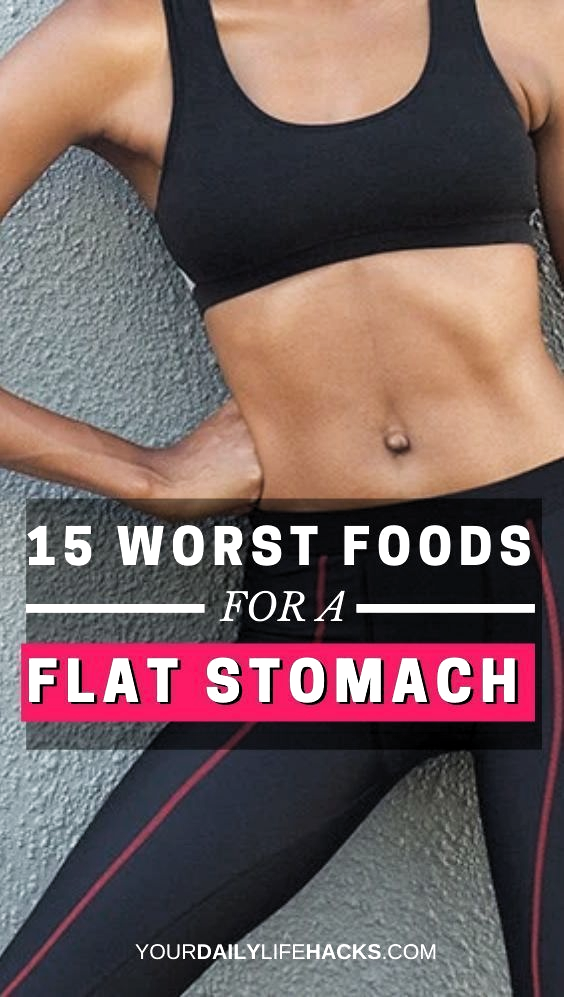 15 Things You Should Never Eat If You Want a Flat Stomach  nutrition plans to lose weight   eating l...