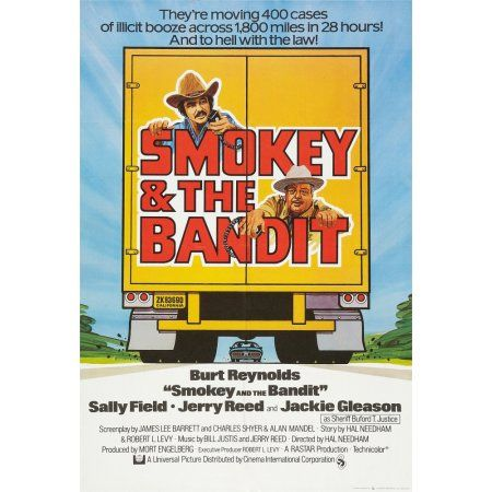 Smokey And The Bandit Canvas Art 11 X 17 Smokey And The Bandit Jackie Gleason Burt Reynolds