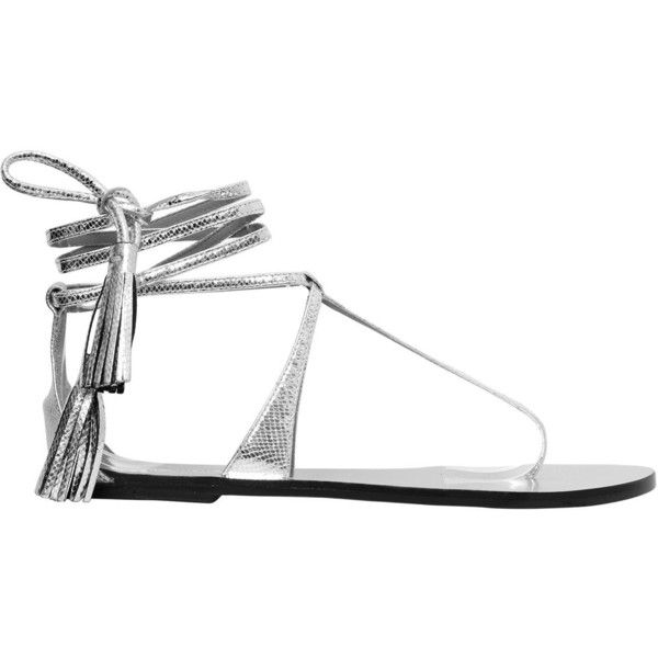 77ba3b215007a0 Isabel Marant Women 10mm Ann Metallic Leather Sandals (380 AUD) ❤ liked on  Polyvore featuring shoes