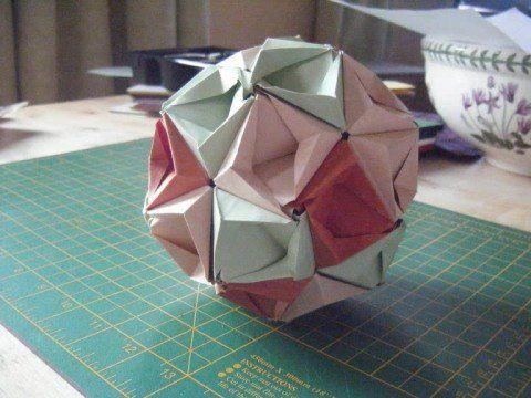 Origami Kusudama (Intermediet) - YouTube