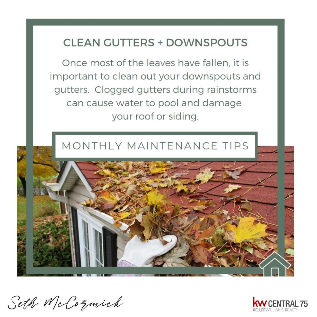 This Is Another Fall Favorite Maintenance Tip Don T Let Your Gutters And Downspouts Get Clogged With Fallen Leaves Taki Cleaning Gutters Gutters Downspout