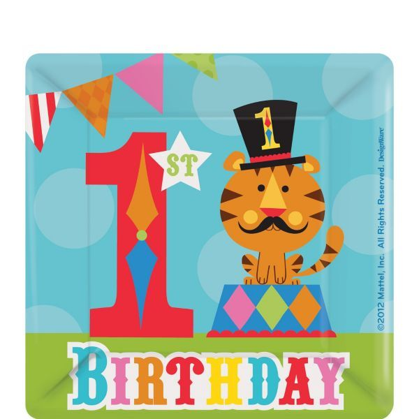 FISHER PRICE 1st BIRTHDAY CIRCUS LUNCH NAPKINS ~ First Party Supplies Large 16