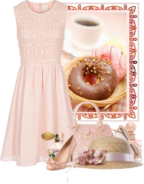 """pink treats"" by countrycousin ❤ liked on Polyvore  I'm not a girly girl, but I love this."