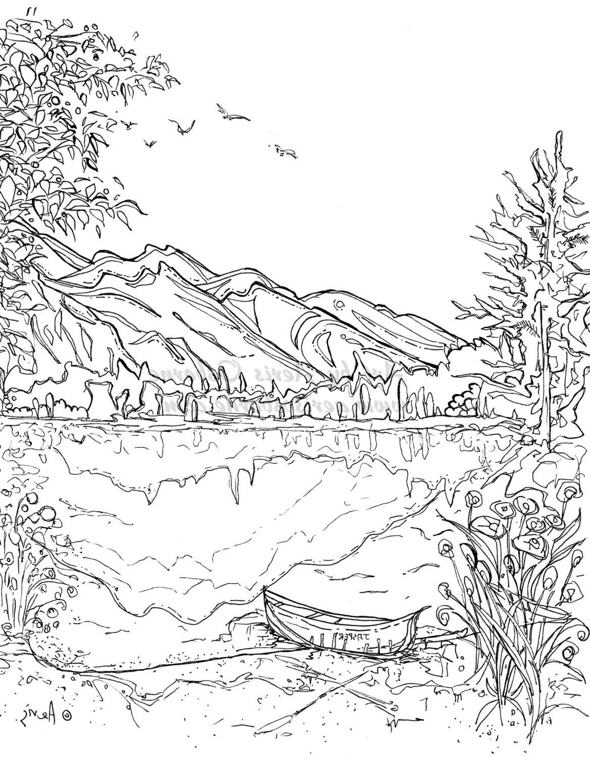 24 Brilliant Photo Of Landscape Coloring Pages Davemelillo Com Coloring Pages Nature Coloring Pages Coloring Book Art